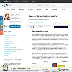 consulting business plan executive summary