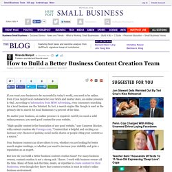 How to Build a Better Business Content Creation Team