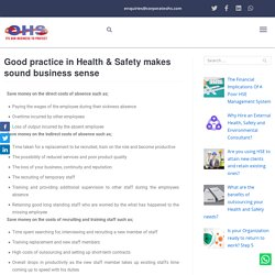 Health and Safety Makes Sound Business Sense
