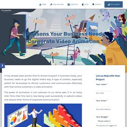 Grow Your Business With Corporate Video Animation By Pat Animation