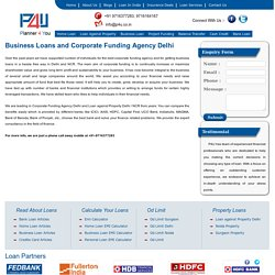 Business Loan, Corporate Funding Agency Delhi - P4u.co.in