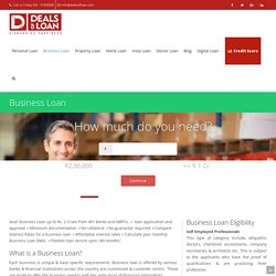 Business Loan - Apply for Small Business Loan, corporate loans online