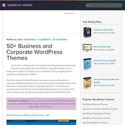 50+ Business and Corporate WordPress Themes