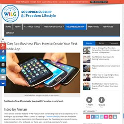 8-Day App Business Plan: How to Create Your First Mobile App