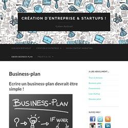 Création d'entreprise & startups !