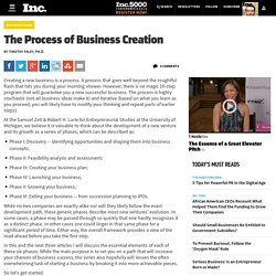 The Process of Business Creation, Starting a Business Article