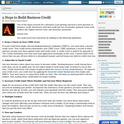 5 Steps to Build Business Credit