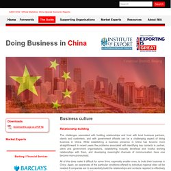Business culture - Doing Business in China