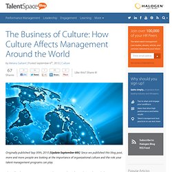 The Business of Culture: How Culture Affects Management Around the World