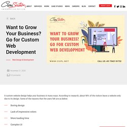 Want to Grow Your Business? Go for Custom Web Development