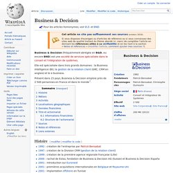 Business & Decision (wiki)