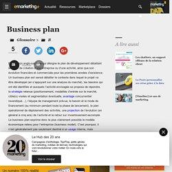 Business plan - Définition du glossaire