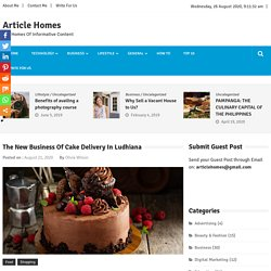 The New Business Of Cake Delivery In Ludhiana