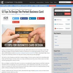Business Card Design Tips: Top Ideas for Designers in 2016