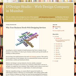 Why Your Business Needs Web Designing Services