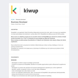 Kiwup - Jobs: Business Developer - Apply online