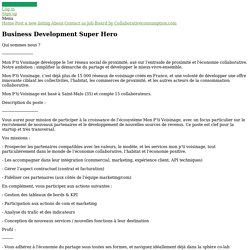 Business Development Super Hero - OuiShare Job Board