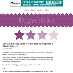 Achieve Business Goals with the Best Development & Design Services