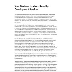 Your Business to a Next Level by Development Services