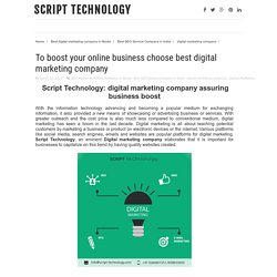 To boost your online business choose best digital marketing company