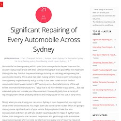 Significant Smash Repairing of Every Automobile Across Sydney