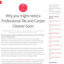 Advantages of using a professional Carpet Cleaning services in Ryde