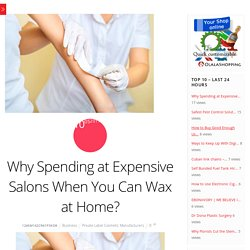 Why Spending at Expensive Salons When You Can Wax at Home?