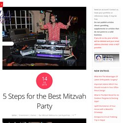 5 Steps for the Best Mitzvah Party