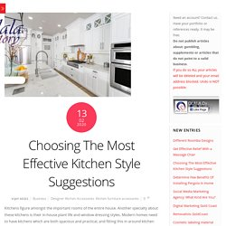 What's the best suggestion for an efficient kitchen style?