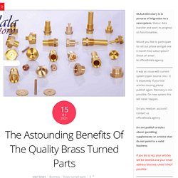 Benefit of brass turned parts for industrialist