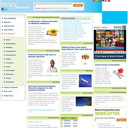 Cayman Islands Business Directory from eCayOnline