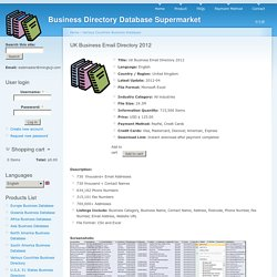 Business Directory Database Supermarket