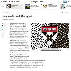 Business School, Disrupted