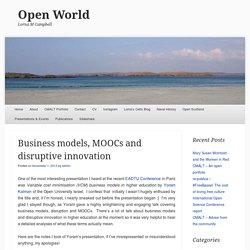 Business models, MOOCs and disruptive innovation