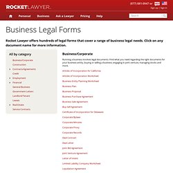 Business Documents - Free Legal Forms of Business Online