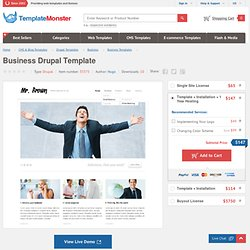 Drupal template #33375 by Hugo