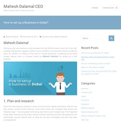 How to set up a Business in Dubai?