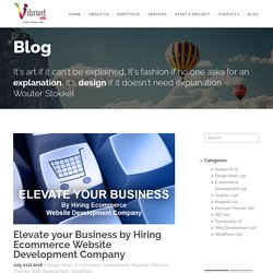Elevate your Business by Hiring Ecommerce Website Development Company