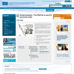 Social business - The DNA for a new EU economic order | European Economic and Social Committee