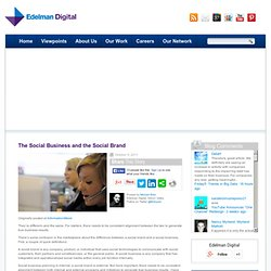 The Social Business and the Social Brand