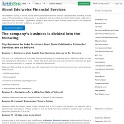 Reasons to avail Business Loans from Edelweiss Financial Services
