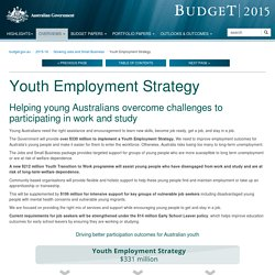 Budget 2015 - Growing Jobs and Small Business - Youth Employment Strategyk