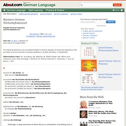 English-German Glossary 1