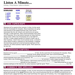 Business: Listen A Minute.com: English Listening Lesson