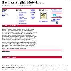 Zara: Business English Materials.com: ESL Lessons