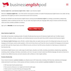 Learn Business English with Lessons, Quizzes, Podcasts and PDFs