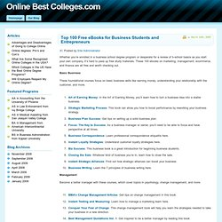 Top 100 Free eBooks for Business Students and Entrepreneurs | Best Online Colleges