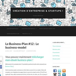 Le Business-Plan #12 : Le business-model