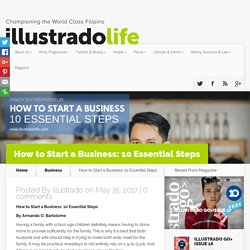 How to Start a Business: 10 Essential Steps - Illustrado Magazine - Filipino Abroad