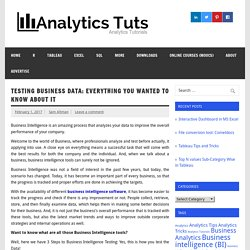 Testing Business Data: Everything you Wanted to know about it - Analytics Tuts